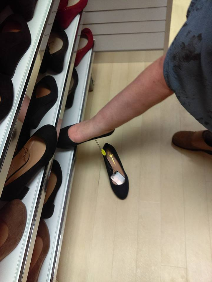 shoes off the rack